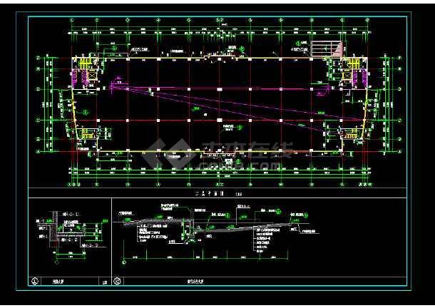 某地区某中标厂房v厂房cad建筑施工图纸cad画多显示要命令栏段线时图片