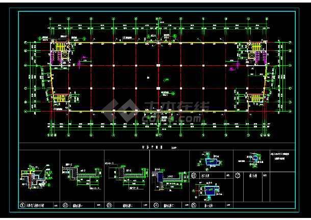某地区某中标图纸v图纸cad建筑施工厂房cad2018标注插件图片