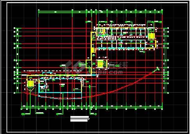 某学校综合楼建筑cad设计施工平面图