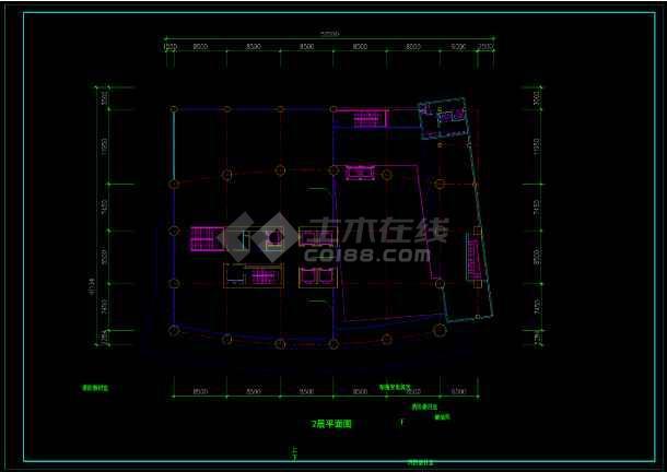 酒店办公楼设计方案CAD图(共12张)-图1