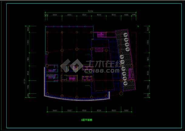 酒店办公楼设计方案CAD图(共12张)-图2