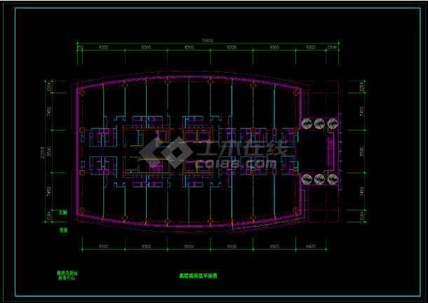 酒店办公楼设计方案CAD图(共12张)-图3