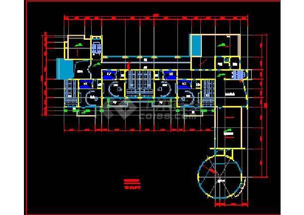 此资料为:某市幼儿园建筑cad设计方案图纸,包含平面图效果图等,内容