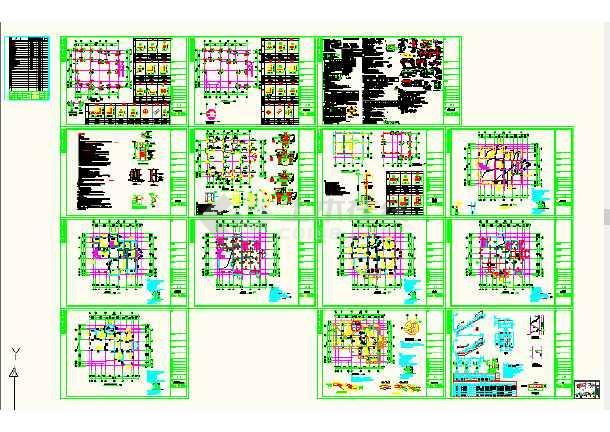 带文件带地下室a文件结构车库CAD图纸cad的转换pdf打开不复式图片