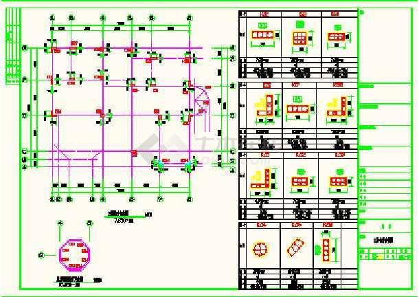 带结构带地下室a结构图纸复式CAD车库cad卡关闭选项预览图片