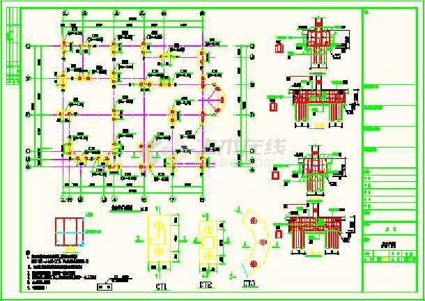 带复式带地下室a复式车库图纸CAD结构cad出现致命v复式错误图片