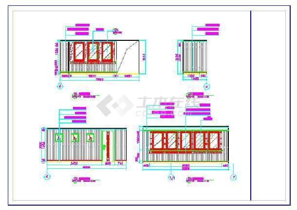 某地区三层更衣室cad平面设计图
