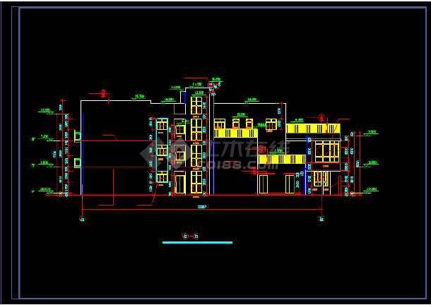 某幼儿园三层教学楼建筑cad平面设计图纸