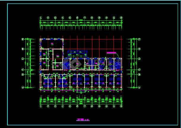 北京某养老院CAD设计建筑施工方案图纸-图3