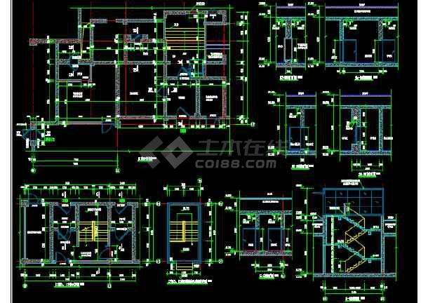 小区大型地库建筑设计图(含人防)-图2