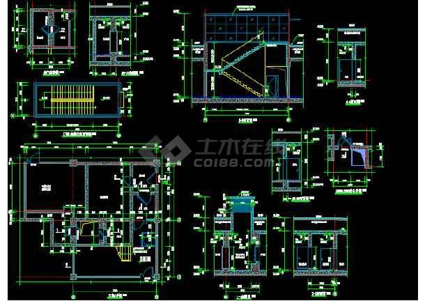 小区大型地库建筑设计图(含人防)-图3