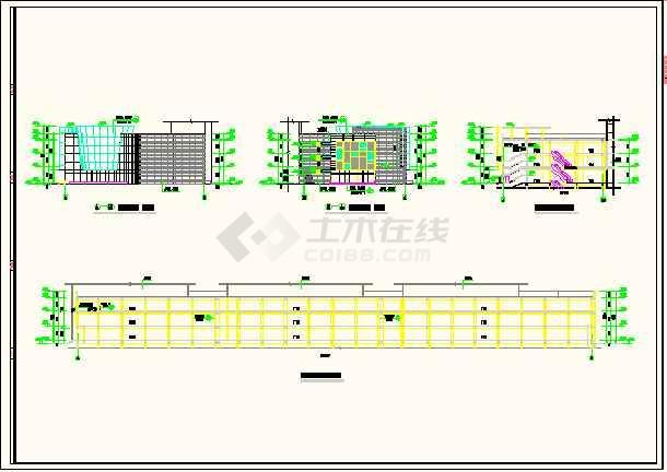 浙江某商场建筑工程平立剖面设计图