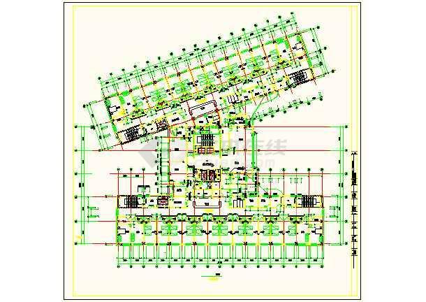 保定市第一中心医院平面设计方案详图-图1