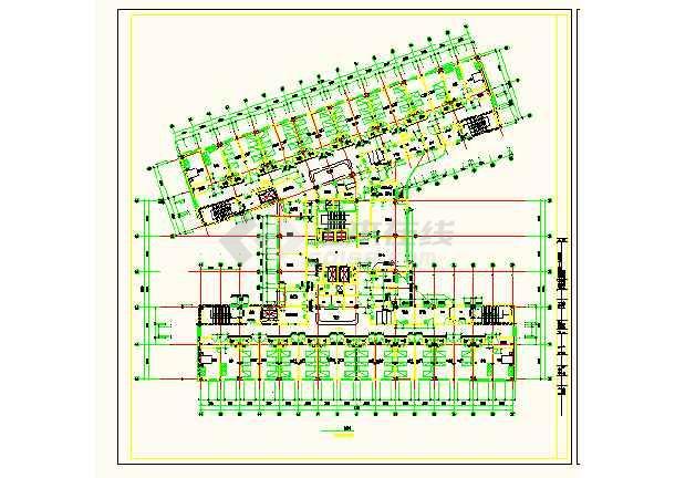 保定市第一中心医院平面设计方案详图-图3