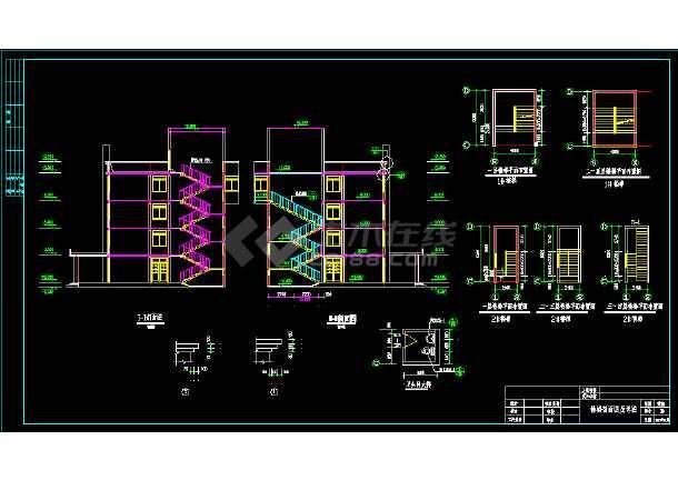 某西北地区的医院住院楼建筑CAD施工图纸-图3