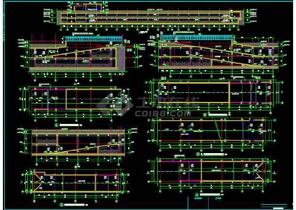 小区地下二层车库建筑设计施工图-图1