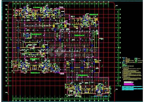 小区地下二层车库建筑设计施工图-图2