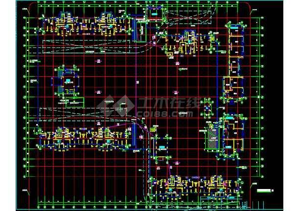小区地下二层车库建筑设计施工图-图3