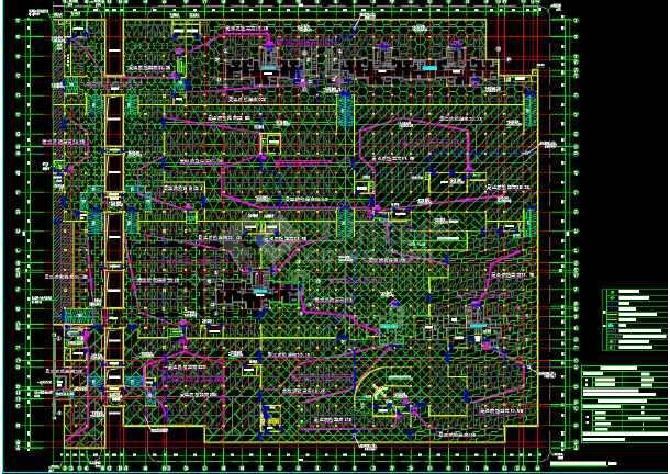 居住小区地下车库建筑设计施工图-图3