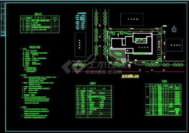 某县三层门诊楼建筑CAD施工图纸-图3