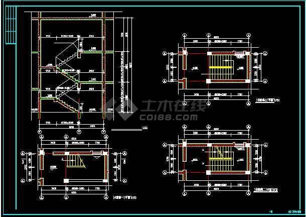 某城市的白云苑别墅全套cad施工设计图