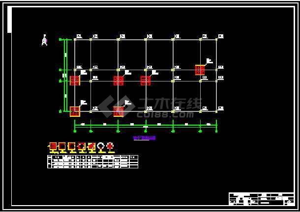 某三层框架图书馆钢筋及广联达算量(含CAD图不到自后找打印了天正定义图纸图片