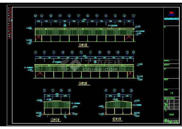 某地区育兴石材有限公司钢结构工程方案四设计CAD图纸-图1