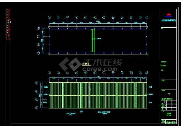 某地区育兴石材有限公司钢结构工程方案四设计CAD图纸-图2
