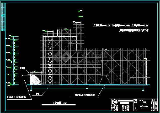 脚手架建筑设计v图纸CAD图纸图含计算书和图纸连栋温室大棚方案图片