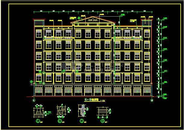 某6层厂房建筑cad设计图纸全套