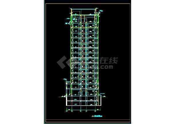 某三类甲等医院十六层病房楼建筑CAD扩初图纸-图2