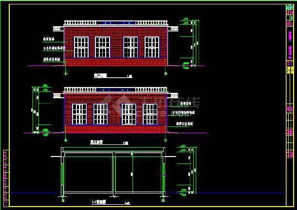 某315平米医院制氧站建筑面积CAD施工图纸-图1