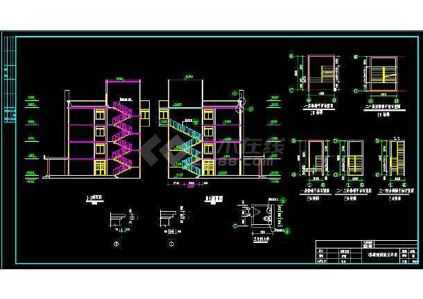 某县医院四层住院部建筑CAD扩初图纸-图3