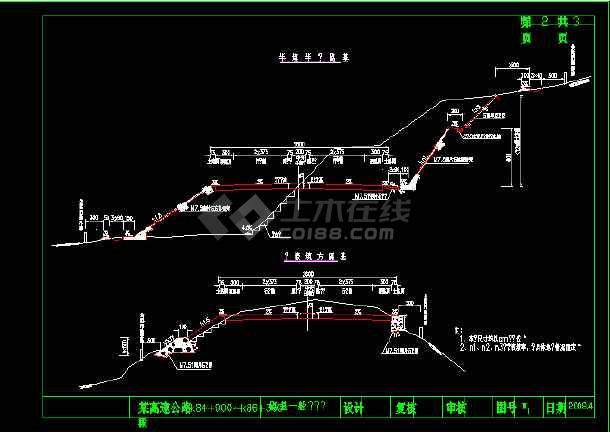 图纸公路26宽度工厂宽4×3.75米平面一级四车路基米行车道图片