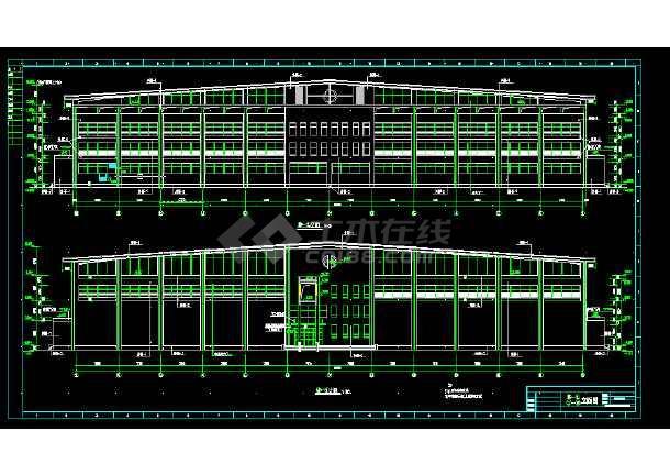 体育馆建筑设计及施工全套CAD平面图-图3