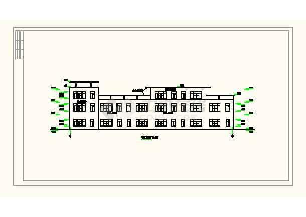 某城镇沿街楼建筑平面设计方案详图-图1
