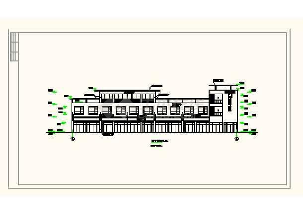 某城镇沿街楼建筑平面设计方案详图-图3