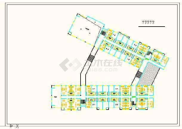 江苏徐州某国际酒店设计方案cad图-图1