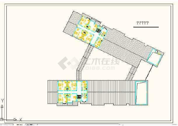 江苏徐州某国际酒店设计方案cad图-图3