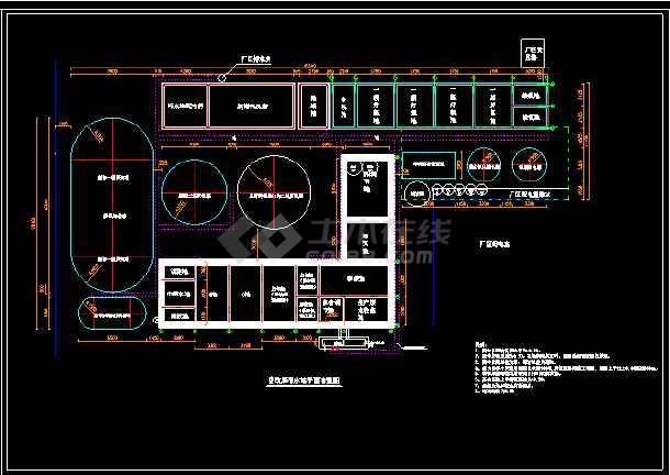 污水处理整改工程施工图纸(含土建、管道竣工图、设备图)-图1