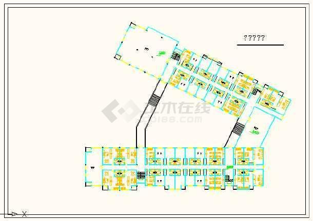 深圳市某快捷酒店建筑平面设计详图-图1