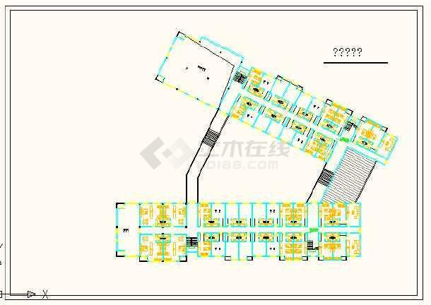 深圳市某快捷酒店建筑平面设计详图-图3