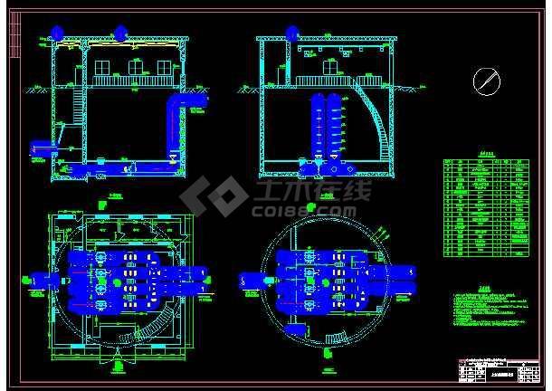 污水处理厂提升泵站设计CAD图纸-图1