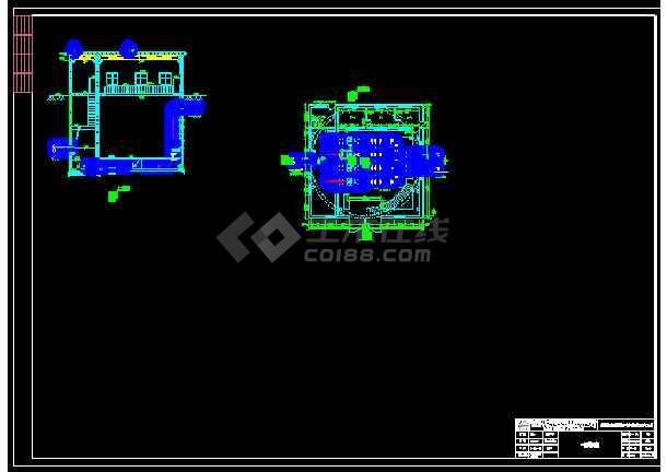污水处理厂提升泵站设计CAD图纸-图2