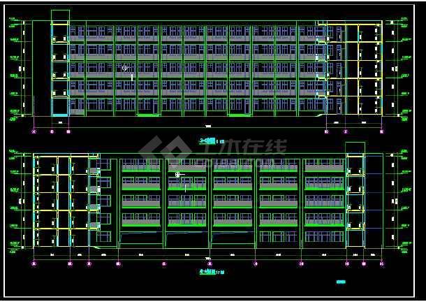 某教学楼建筑CAD施工设计详情图-图2