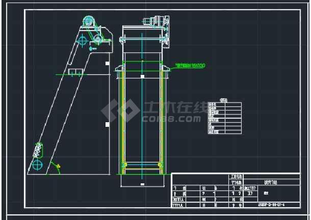高邮某处污水泵站全套CAD设计详图