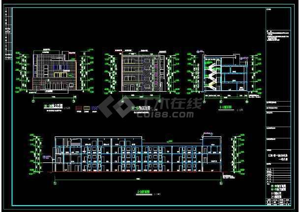 四层共12班幼儿园建筑设计施工图-图1