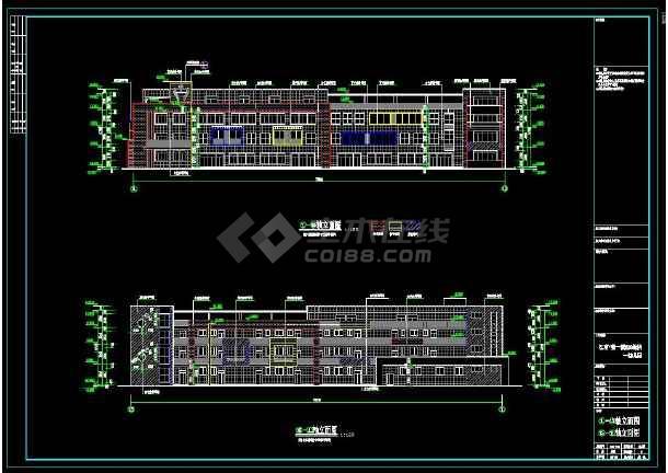 四层共12班幼儿园建筑设计施工图-图2