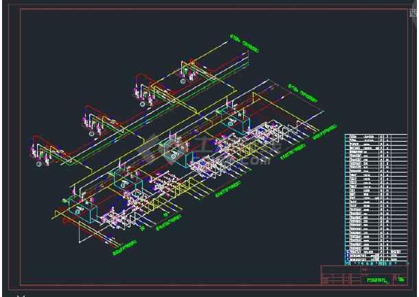 某地区氨压缩机房污水处理氨系统设计图-图1