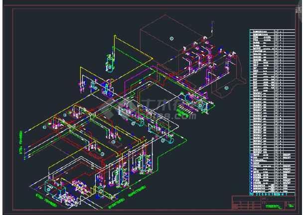 某地区氨压缩机房污水处理氨系统设计图-图3